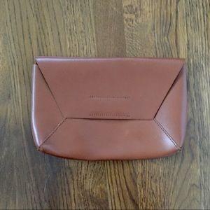 J CREW leather envelope clutch